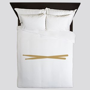Drum Sticks Queen Duvet