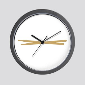 Drum Sticks Wall Clock