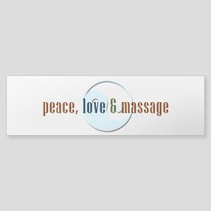 Peace, Love and Massage Bumper Sticker