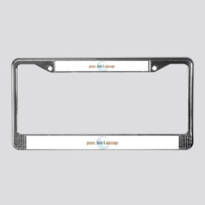 Peace, Love and Massage License Plate Frame