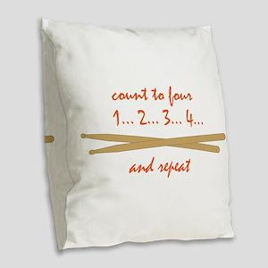 Drum Sticks Burlap Throw Pillow