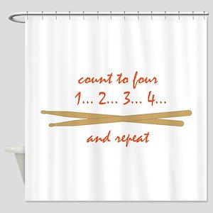 Drum Sticks Shower Curtain