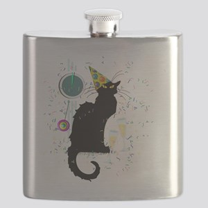 Chat Noir New Years Party Countdown Flask
