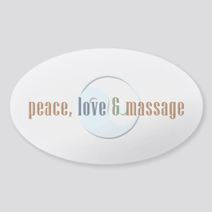 Peace, Love and Massage Sticker