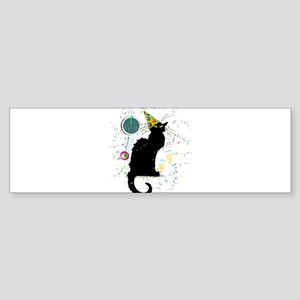 Chat Noir New Years Party Countdown Bumper Sticker