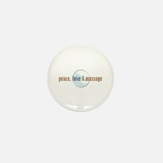 Peace, Love and Massage Mini Button