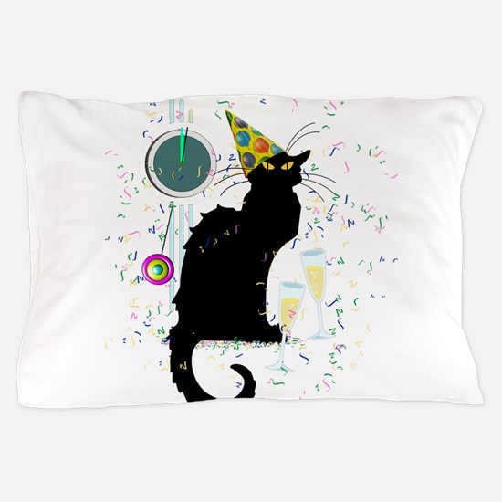 Chat Noir New Years Party Countdown Pillow Case