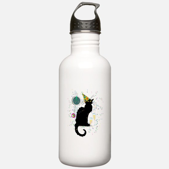 Chat Noir New Years Pa Water Bottle