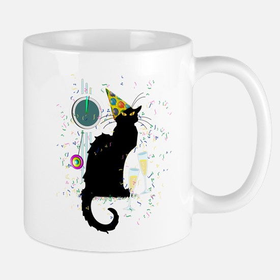 Chat Noir New Years Party Countdown Mugs