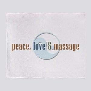 Peace, Love and Massage Throw Blanket