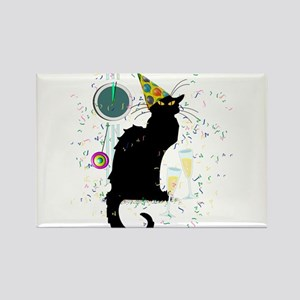 Chat Noir New Years Party Countdown Magnets