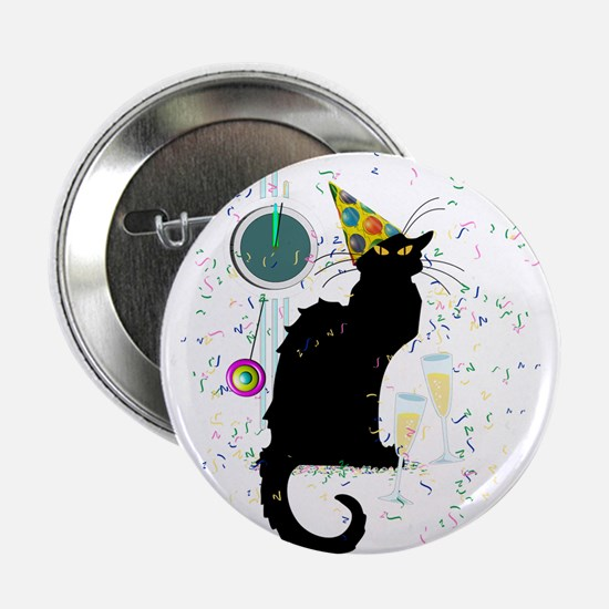 "Chat Noir New Years Party Countdown 2.25"" Button"