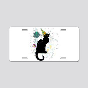 Chat Noir New Years Party C Aluminum License Plate