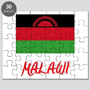 Malawi Flag Artistic Red Design Puzzle