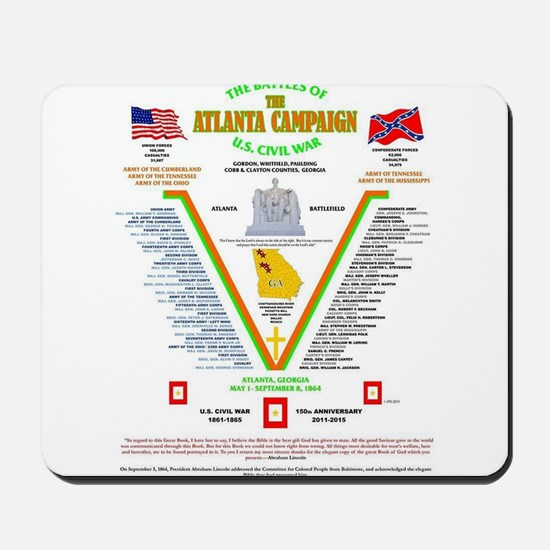 BATTLE OF ATLANTA, GEORGIA U.S. CIVIL WA Mousepad