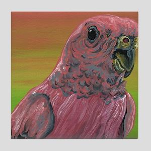 Rosy Bourkes Parakeet Tile Coaster