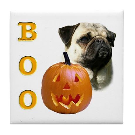 Pug (Fawn) Boo Tile Coaster