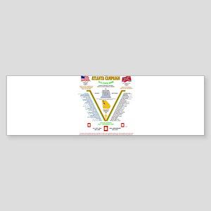 BATTLE OF ATLANTA, GEORGIA U.S. CIV Bumper Sticker