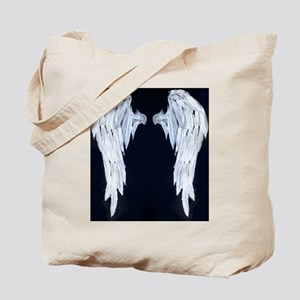 Angel wings blue moon Tote Bag