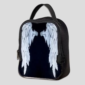 Angel wings blue moon Neoprene Lunch Bag