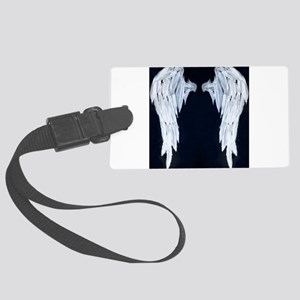 Angel wings blue moon Luggage Tag