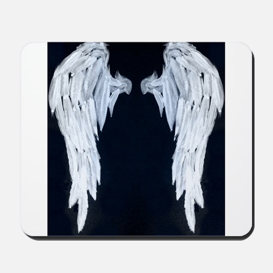 Angel wings blue moon Mousepad