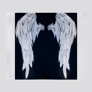 Angel wings blue moon Throw Blanket