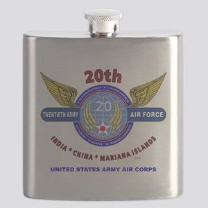 20TH ARMY AIR FORCE* ARMY AIR CORPS WW II Flask