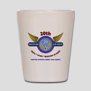 20TH ARMY AIR FORCE* ARMY AIR CORPS WW  Shot Glass