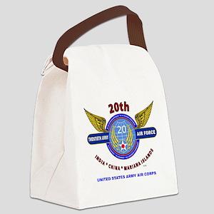 20TH ARMY AIR FORCE* ARMY AIR COR Canvas Lunch Bag