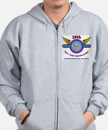 20TH ARMY AIR FORCE* ARMY AIR CORPS WW Zip Hoody