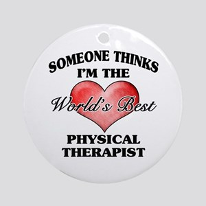 World's Best Physical Therapist Ornament (Round)
