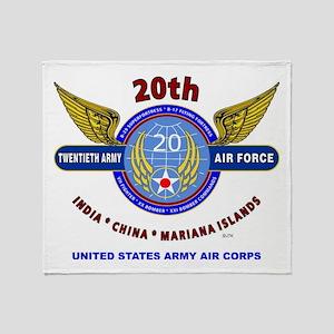 20TH ARMY AIR FORCE* ARMY AIR CORPS Throw Blanket