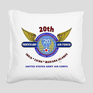 20TH ARMY AIR FORCE* ARMY AIR Square Canvas Pillow