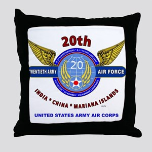 20TH ARMY AIR FORCE* ARMY AIR CORPS W Throw Pillow