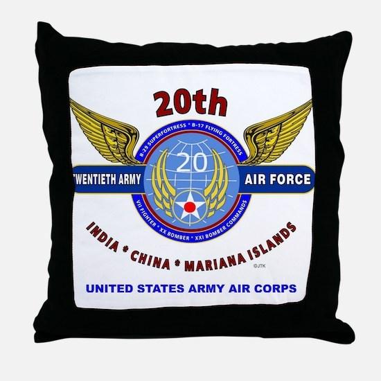 20TH ARMY AIR FORCE* ARMY AIR CORPS W Throw Pillow