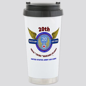 20TH ARMY AIR FORCE* AR Stainless Steel Travel Mug