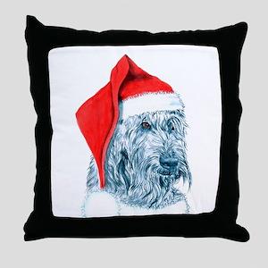 Santa Labradoodle Throw Pillow
