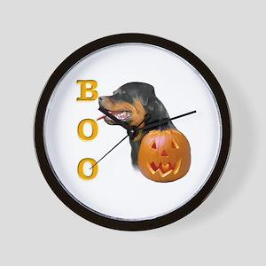 Rottweiler Boo Wall Clock