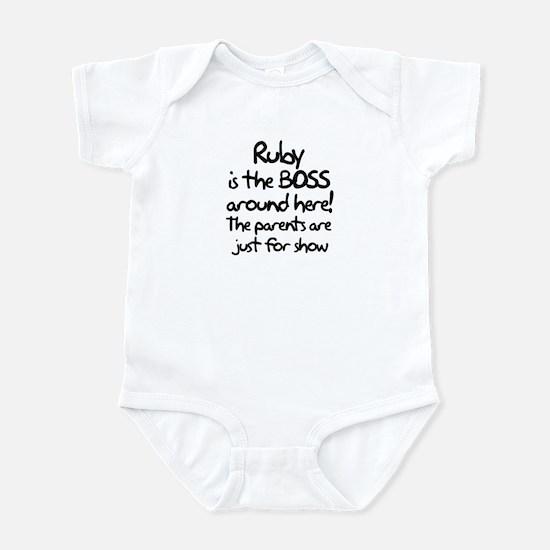 Ruby is the Boss Infant Bodysuit