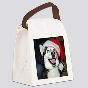 Christmas Husky Canvas Lunch Bag
