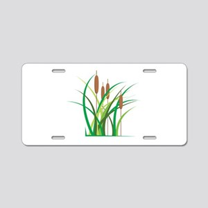 Cattails Aluminum License Plate