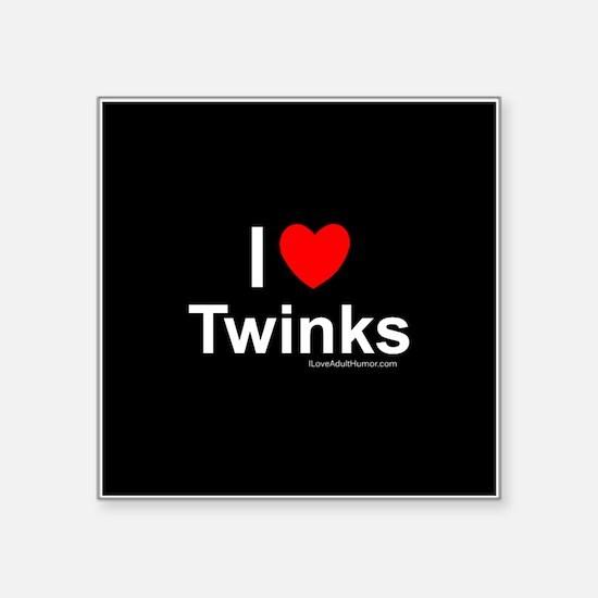 "Twinks Square Sticker 3"" x 3"""