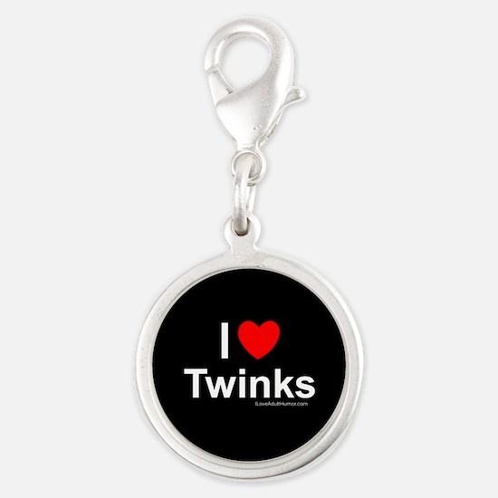Twinks Silver Round Charm