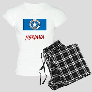 Mariana Flag Artistic Red Design Pajamas