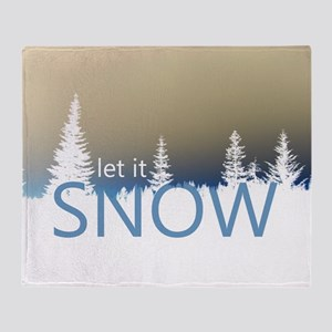 Let It Snow Throw Blanket