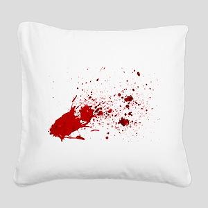 blood splatter 1 Square Canvas Pillow