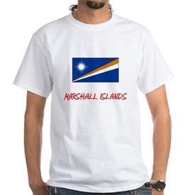 Marshall Islands Flag Artistic Red Design T-Shirt