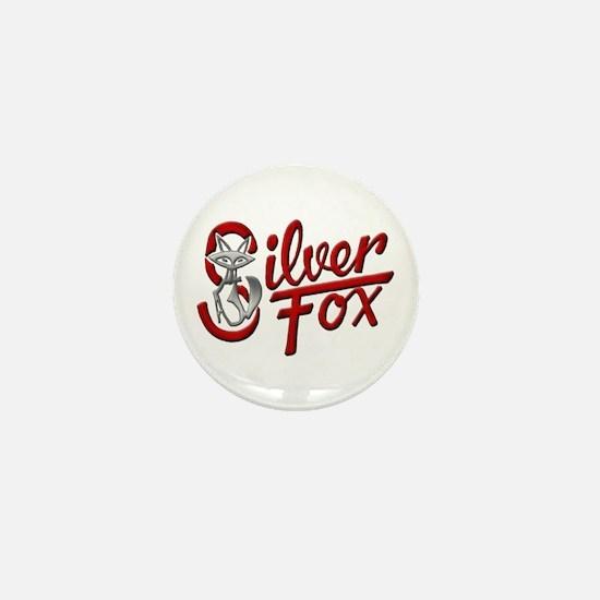 Silver Fox Mini Button