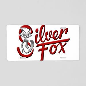 Silver Fox Aluminum License Plate
